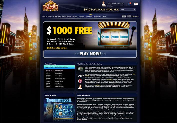 spin palace live casino